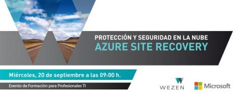 Evento de formación a profesionales: Azure Site Recovery